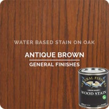 Image 1 of General Finishes Water-Based Wood Stain, Antique Brown, Quart