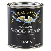 Image 3 of General Finishes Water-Based Wood Stain, Black, Quart