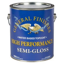 Image 1 of General Finishes High Performance Polyurethane Water-based Topcoat, Semi-Gloss, Gallon