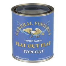 Image 1 of General Finishes Flat Out Flat Water-based Topcoat Pint