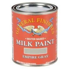 Image 2 of General Finishes Milk Paint, Empire Gray, Quart