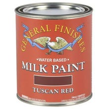 Image 2 of General Finishes Milk Paint, Tuscan Red, Quart