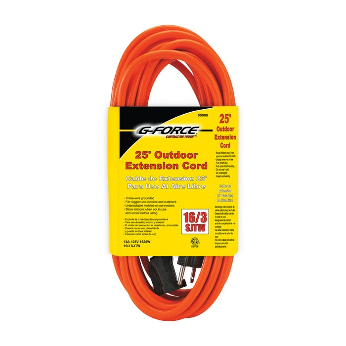 G-Force Extension Cord 16/3  25 ft.
