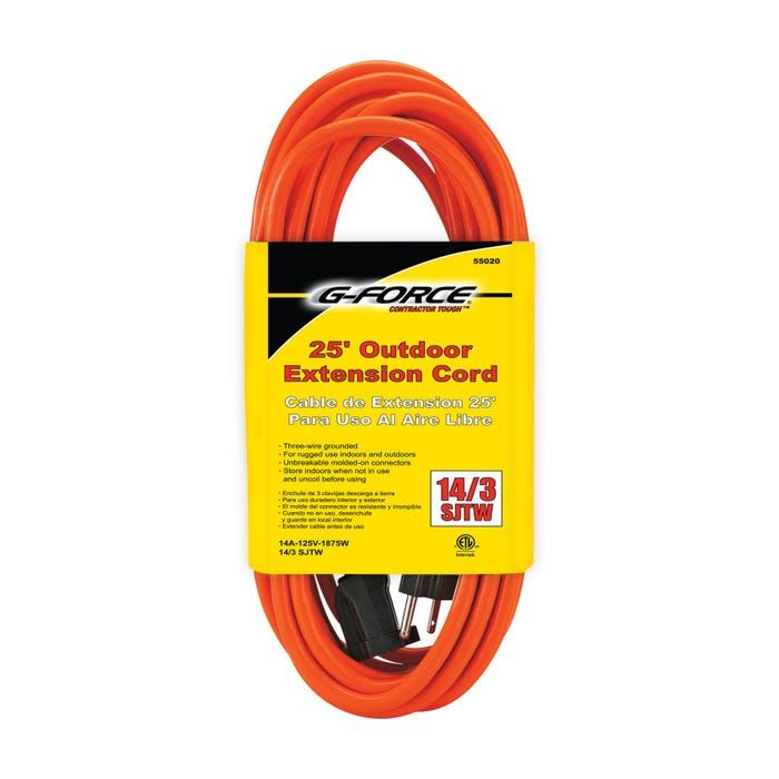 G-FORCE 14/3 SJTW-A 25' EXT CORD