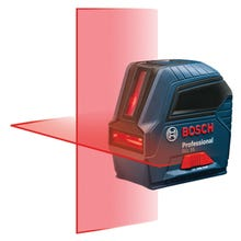 Image 1 of Bosch GLL 55 Cross-Line Laser, 50 ft, +/-1/8 in at 33 ft Accuracy, 2 -Line