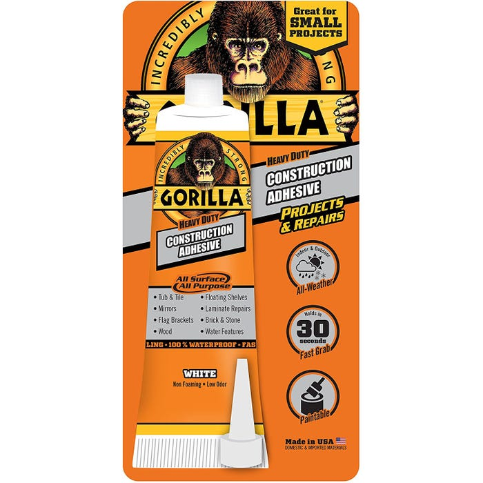 GORILLA Construction Adhesive 2.5 oz