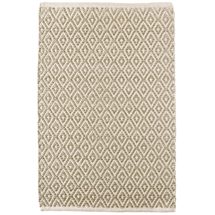 Dash & Albert Glimmer Diamond  Woven Cotton Rug