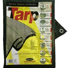 Extra Heavy - Ripstop Green Poly Tarp 25 ft. x 25 ft.