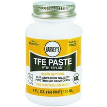 Image 1 of HARVEY 023030 Pipe Thread Compound, White, 4 fl-oz Jar