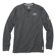 Image 1 of Roots 73 Men's Charcoal Gray Henley, Large