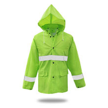 Boss LINED PVC RAIN JACKET .35MM, HIGH-VIS FLUORESCENT GREEN