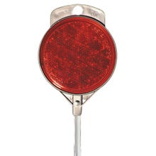 Image 1 of HY-KO DM100R48 Driveway Marker, Aluminum Post, Red Reflector
