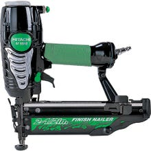 Image 2 of HITACHI NT65M2S Finish Nailer with Integrated Air Duster, 1/4 in Air Inlet, 100 Magazine, Nail Fastener, Green