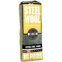Image 2 of Homax 106601-06 Steel Wool Pad, #000 Grit, Extra Fine, Gray