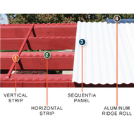 Image 2 of Sequentia 8' Wood Support Strip - Horizontal