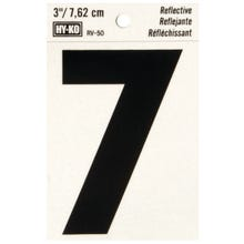 Image 2 of HY-KO RV-50/7 Reflective Sign, Character 7, 3 in H Character, Black Character