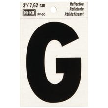 Image 2 of HY-KO RV-50/G Reflective Letter, Character G, 3 in H Character, Black Character