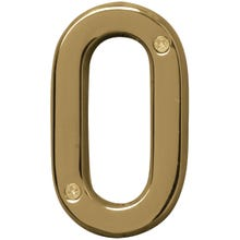 Image 2 of HY-KO Prestige BR-42PB/0 House Number, Character 0, 4 in H Character, Brass Character