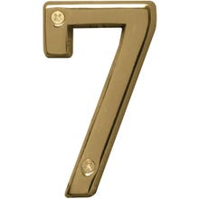 Image 2 of HY-KO Prestige BR-42PB/7 House Number, Character 7, 4 in H Character, Brass Character