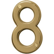 Image 2 of HY-KO Prestige BR-42PB/8 House Number, Character 8, 4 in H Character, Brass Character