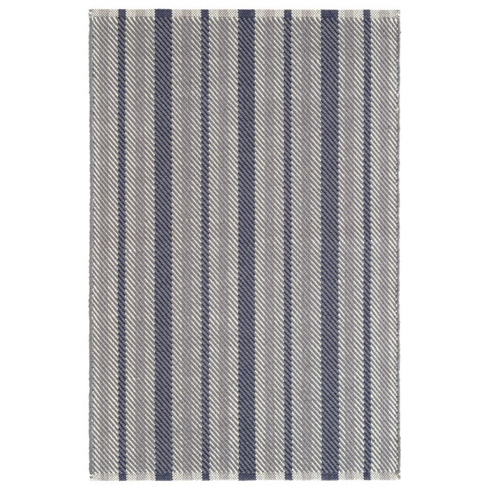Dash & Albert Herringbone Stripe  Woven Cotton Rug