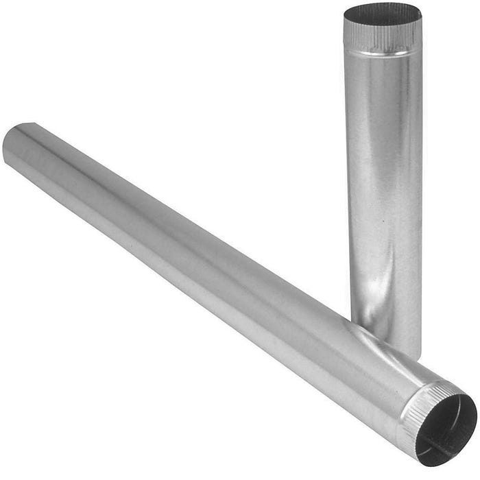 Image 2 of Imperial GV0387-B/A Duct Pipe, 6 in Dia, Round Duct, Galvanized