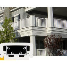 Intex Railing System Kit, Dartmouth RS35 Series, 36 in. x 120 in., White
