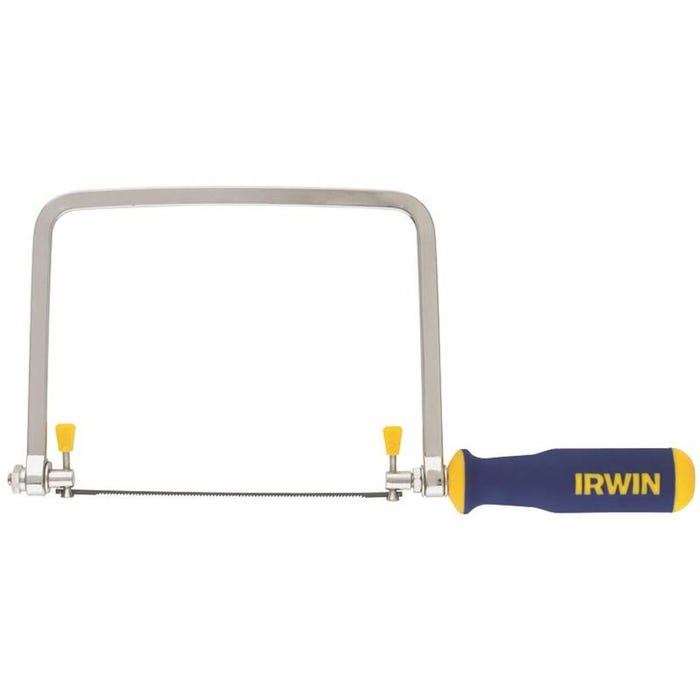 Image 1 of IRWIN ProTouch 2014400 Coping Saw, 17 TPI, Steel Blade, Ergonomic Handle