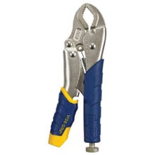 Image 2 of IRWIN VISE-GRIP Fast Release 13T Locking Plier, 1-1/2 in Jaw Opening, Curved, Nickel Jaw, Ergonomic Handle