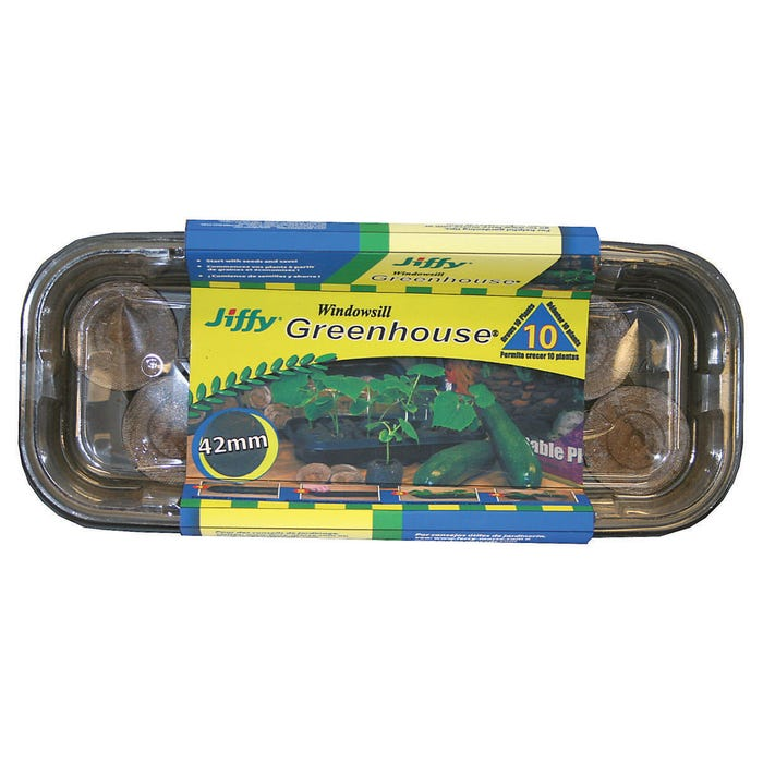 Image 2 of Jiffy J410 Seed Starter Kit, 9 in L x 4-1/2 in W Tray, 2-1/4 in H Tray