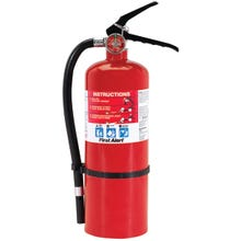 Image 2 of FIRST ALERT PRO5 Fire Extinguisher, Monoammonium Phosphate Extinguish Agent, 5 lb Capacity, 3-A:40-B:C Fire Class