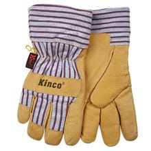 Image 1 of Heatkeep 1927-L Protective Gloves, L, Pigskin Leather, Palamino