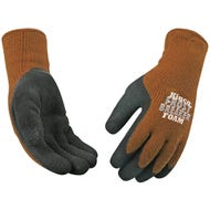 Image 2 of Frost Breaker 1787-S High-Dexterity Protective Gloves, Men's, S, Regular Thumb, Knit Wrist Cuff, Brown