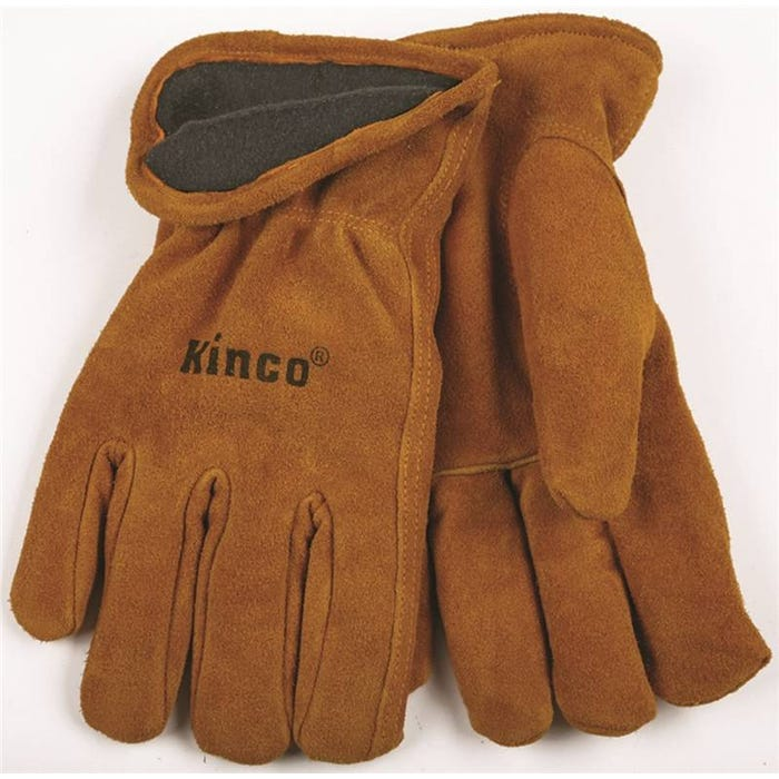 Image 1 of Heatkeep 50RL-XL High-Durability Driver Gloves, XL, Fleece Lining, Split Cowhide Leather, Brown