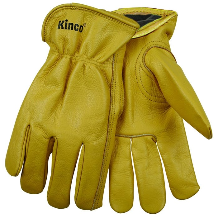 Image 1 of Heatkeep 98RL-L Driver Gloves, L, Cowhide Lining, Cowhide Leather, Gold