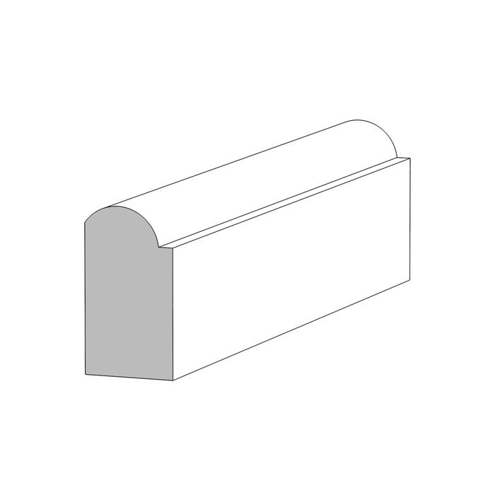 (M163) ⁷⁄₁₆ in. x ¾ in. Bullnose Stop, Clear Pine