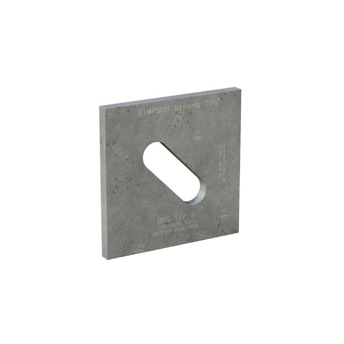 Hot-Dip Galvanized Slotted Bearing Plate with 1/2 in. Bolt Dia.