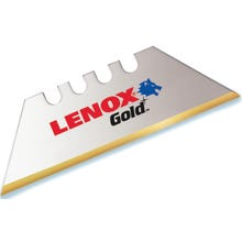 Image 2 of Lenox Gold 20350GOLD5C Utility Knife Blade, 2-Point, Bi-Metal/HSS, Titanium-Coated