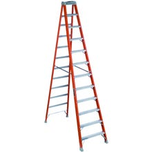 Image 1 of Louisville FS1512 Step Ladder, 300 lb Weight Capacity, 11-Step, 137.127 in H Open, Fiberglass