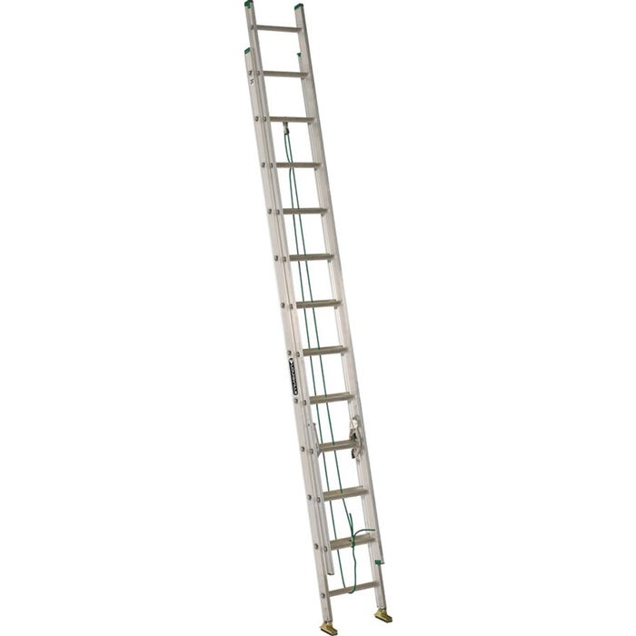 Image 1 of Louisville AE4224PG Extension Ladder, 225 lb Weight Capacity, 24-Step, 21 ft L Extension, Aluminum