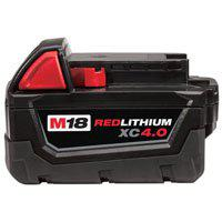 Image 2 of Milwaukee 48-11-1840 Rechargeable Battery Pack, 18 V Battery, 4 Ah