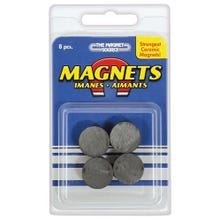 Image 2 of Magnet Source 07003 Magnetic Discs, Ceramic, Charcoal Gray