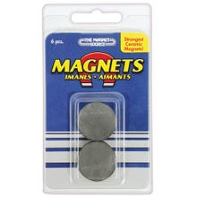 Image 2 of Magnet Source 07004 Magnetic Discs, Ceramic, Charcoal Gray