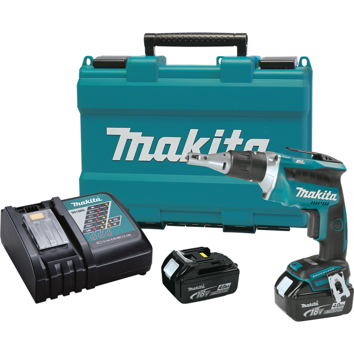Makita 18V LXT® Lithium‑Ion Brushless Cordless 4,000 RPM Drywall Screwdriver Kit (4.0Ah)