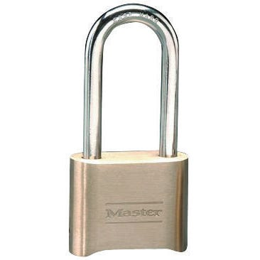 Image 1 of Master Lock 175DLH Combination Padlock, 2 in W Body, 2-1/4 in H Shackle, Brass