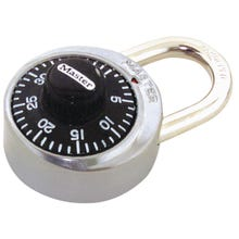 Image 1 of Master Lock 1500D Combination Dial Padlock, 1-7/8 in W Body, 3/4 in H Shackle, Stainless Steel