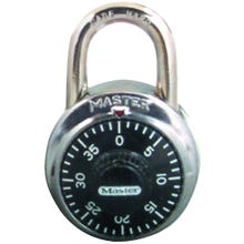 Image 2 of Master Lock 1500T Combination Dial Padlock, 1-7/8 in W Body, 3/4 in H Shackle, Stainless Steel