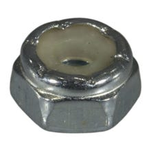 Image 1 of MIDWEST #6-32 Zinc Plated Grade 2 Steel Coarse Thread Nylon Insert Lock Nuts, 100 Count
