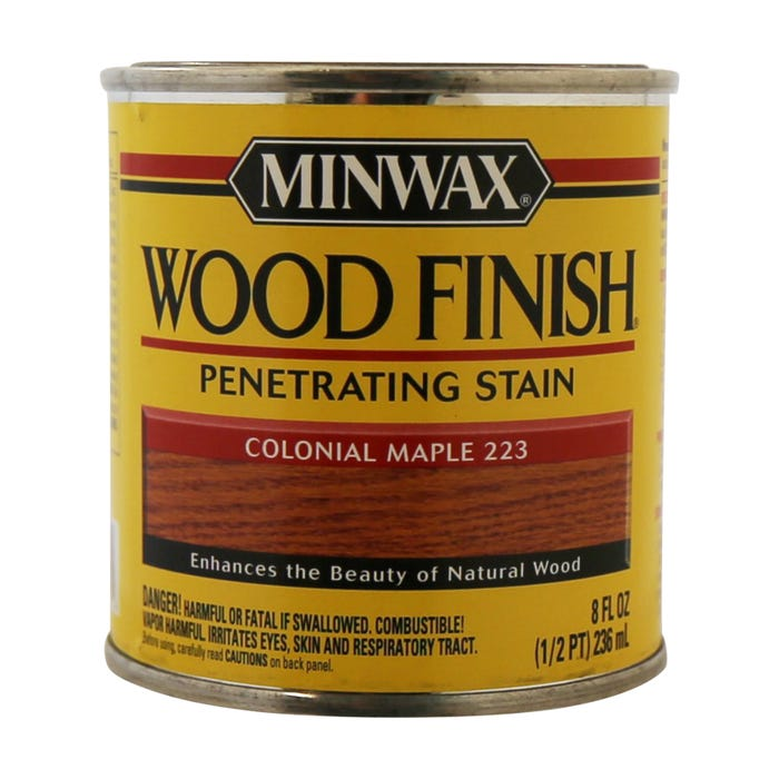 Minwax Wood Finish, Colonial Maple #223, 1/2 Pint