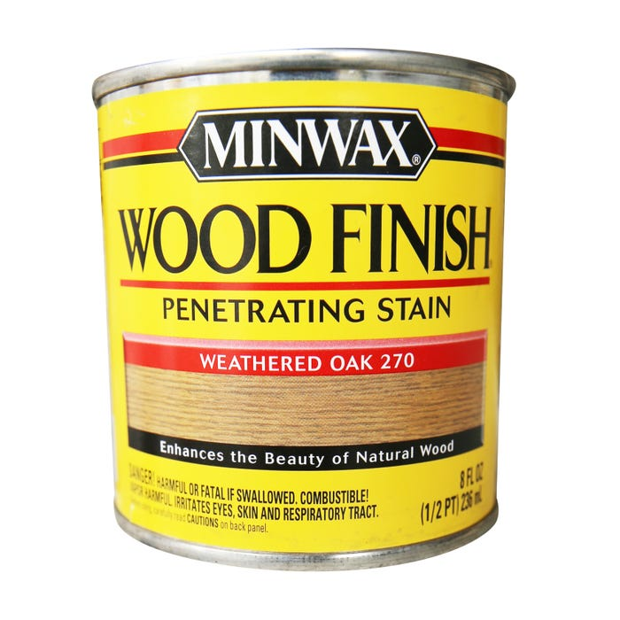 Minwax Wood Finish, Weathered Oak #270, 1/2 Pint